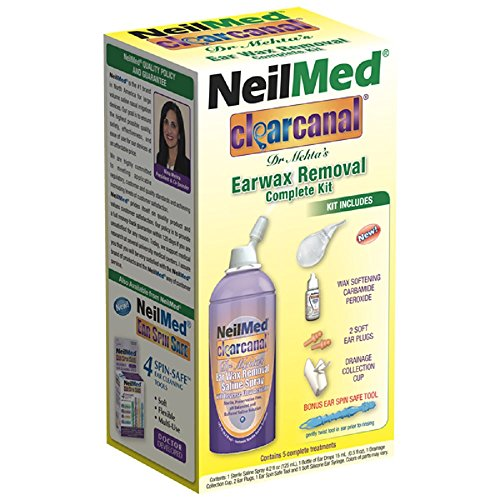 Suggested use: maximum of twice per week or as recommended by your physician 1 can sterile saline spray75 ml 1 bottle of ear drops 15 ml ,1 drainage collection cup and 2 ear plugs Colors of parts may vary