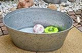 Maison en France Zinkwanne praktisch, stabil und wasserdicht, 62 cm - Zinkwanne für den Garten, auch als Kleiner Teich nutzbar