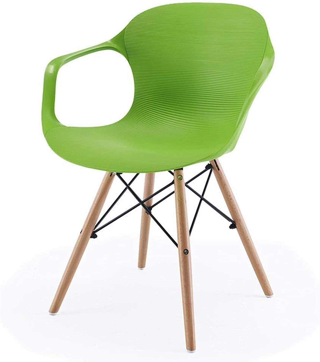 BRNEBN Chair-Dining Chair Modern Lounge Chair Backrest Plastic Armchair Simple American Stool Home Convenient (color   Green)