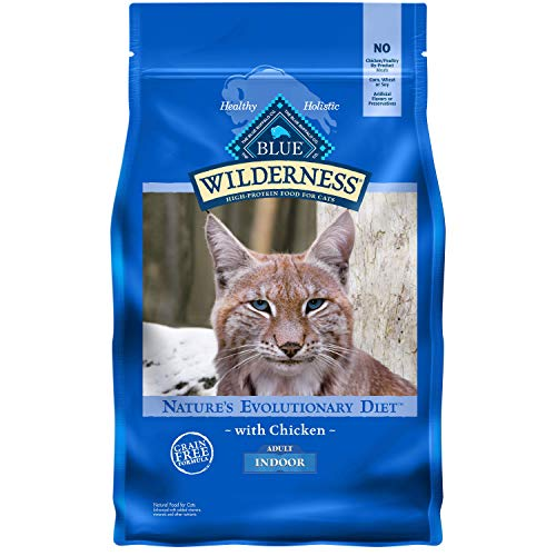 Blue Buffalo Wilderness High Protein, Natural Adult Indoor Dry Cat Food, Chicken 5-lb