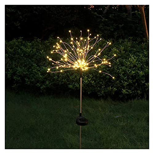 2 Pack Solar Garden Lights 150Led Firework Starburst Lights Outdoor Waterproof Trees Decorative Lights 2 Modes DIY Flowers Solar String Landscape Light For Backyard Garden Patio Yard Flowerbed