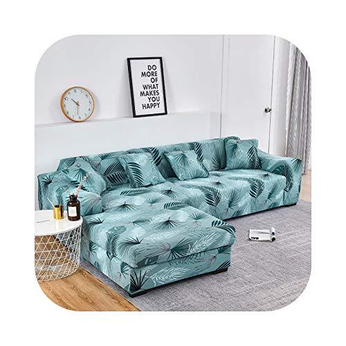 Henraly Sofabezug in L-Form, elastischer Blumenmuster, für Sessel, Wohnzimmer, 1-2 Sitze und 4 Sitze