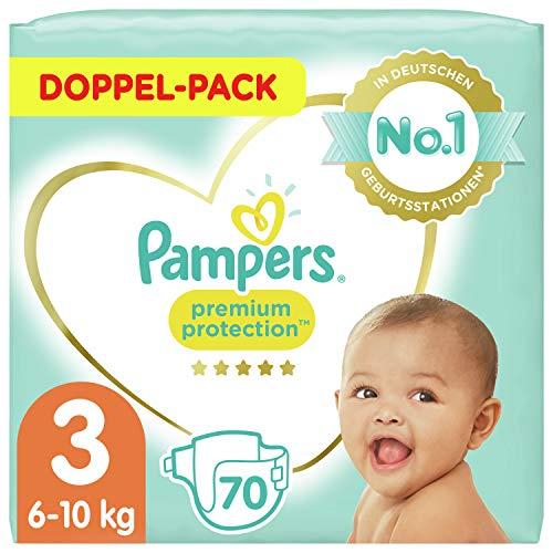 Pampers Baby Windeln Größe 3 (6-10kg) Premium Protection, 70 Stück, Pampers Weichster Komfort Und Schutz