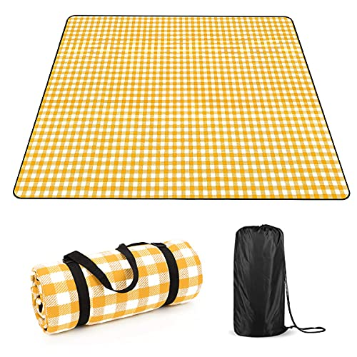 ANTOPY Picnic Blanket Beach Camping Blanket Portátil Ligero Impermeable 200 x 200 cm / 79''x79'' Tamaño Familiar Lavable a máquina 6-8 Personas Picnic Camping Beach