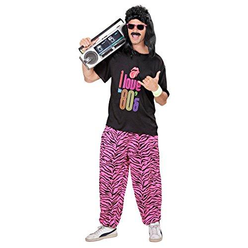NET TOYS Années 80 Pantalon de Jogging Zèbre Pantalon de Sport 80s Tenue Déguisement Tenue d'Entraînement Pantalon Tenue de Jogging Beauf Costume Vêtement M à L / 48 à 54