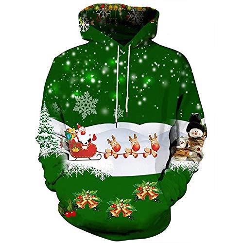Mr.1991INC&Miss.GO Lässige Paar Kapuzenpullover 3D Weihnachten Bedruckte Jacke