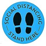 TZL 20 Pezzi Adesivo Pavimenti Distanza Sociale Removibile Ferma Piedi Segno Distanza Sicurezza,segno di distanza di 6 piedi,per Supermercato, Negozio Alimentari, Ufficio Caffè, Ospedale, 8Pollici