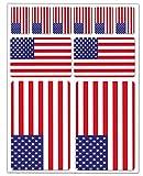 Biomar Labs® 10 x Vinyl Aufkleber Autoaufkleber Stickers Fahne Flagge USA Amerika America Amerikanische Auto Moto Motorrad Fahrrad Scooter Fenster D 39