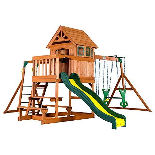 Backyard Discovery Springboro All Cedar Wood Playset Swing...