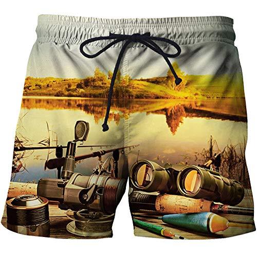 BRILIGHTEN Mannen zwemmen Shorts Waterdichte Zwembroek Lichtgewicht Quick Dry Beach Shorts Vishengel Telescoop