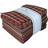Fat Quarter Bundle-Rosso Homespun 12 pezzi 18'X 22'-Rosso