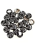 Black Lives Matter Pinback Buttons - 1 Inch Round - 25 Pack