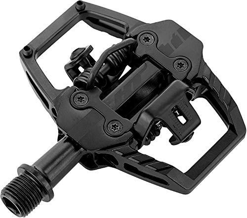 HT-COMPONENTS Coppia Pedali Clip T1 Enduro Race Nero Stealth (Pedali MTB)