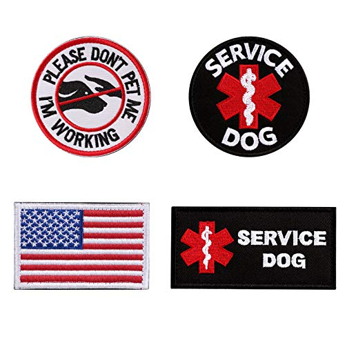 Vevins Service Dog Vest Patch - K9 in Training Hook and Loop Tag - Embroidered Morale Patches for Tactiacl Dog Harness Backpack