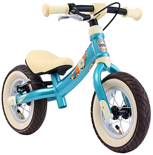 BIKESTAR Mitwachsendes Kinder Laufrad Lauflernrad Kinderrad für Jungen und Mädchen ab 2-3 Jahre | 10 Zoll Flex Sport Kinderlaufrad | Türkis | Risikofrei Testen