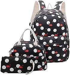 top 10 school bags teen Ulgoo School Bag Girls School Bags Teens Book Bags Kids Set Laptop Bags Lunch Backpacks…