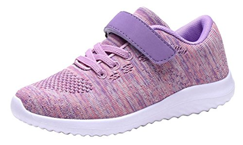 Umbale Girls Fashion Sneakers Comfort Running Shoes (12 M US Little Kid, Pink)