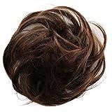 PRETTYSHOP Postizo Coletero Peinado alto, rizado, Moño descuidado,mezcla marrón # 4T30A G26B