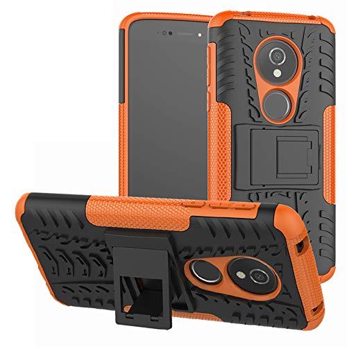Labanema Moto E5 / G6 Play Coque, Etui Housse Coque Shockproof Robuste Impact Armure Hybride Béquille Cover pour Motorola Moto E5 / G6 Play-Orange