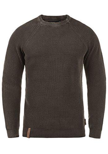 INDICODE Rockford - maglione maglia - Homme , taglia:S;colore:Dark Brown (020)