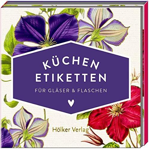 Küchen-Etiketten für Gläser und Flaschen (Clematis, Hölker Küchenpapeterie)