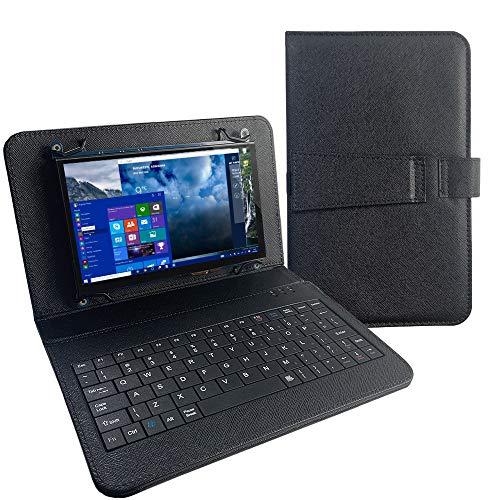 para Pantalla Raspberry Pi 4, Monitor táctil de 7 Pulgadas con Teclado USB Funda de Cuero Pantalla táctil capacitiva IPS 1024x600, para PC, computadora portátil, Windows como Segunda Pantalla