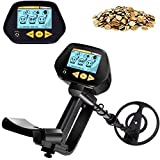INTEY Metal Detector High Precision -2 Modes, Adjustable Gold Detector-77cm-109cm, Detector with LCD Screen, Impermeable Search Coil and 3.5mm Headphone Jack, Best Gift for Friend and Family