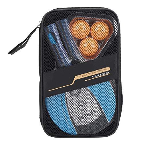 Keen so Table Tennis Paddle, Student Training Straight 2PCS Racket and 3PCS Balls Table Tennis Paddle Ping Pong Balls Set Practicando Equipo Deportivo