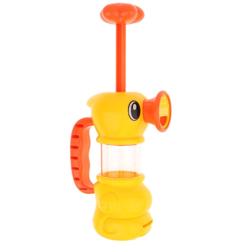 環境保護主義者装置プットKESOTO プラスチック製 黄色のアヒル スカートウォーター スプレー ウォーターポンプ おもちゃ シャワー バスおもちゃ