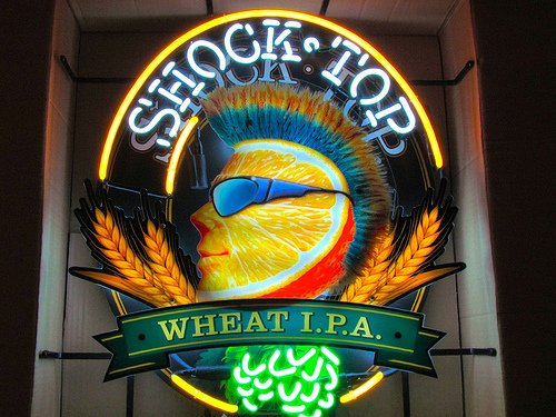 """Desung New 24""""x20"""" Shock Top Wheat IPA Neon Sign Man Cave Bar Pub Beer Neon Lamp Real Glass Neon Light DX106"""