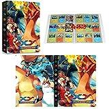 Álbum compatible con Cartas Pokemon GX EX MEGA, Aglutinante compatible con Cartas Pokemon, Carpeta de soporte de álbum de tarjetas coleccionables, Puede contener 432 tarjetas (Battle Dragons)