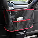 Car Net Pocket Handbag, XiYee Organizer Auto Borsa Da Tasca Per Auto, Organizer per Borsa per Seggiolino Auto, Borsa, Cellulare, Tasca, Portaoggetti Sedile Auto Barriera per Sedile Posteriore (RED)