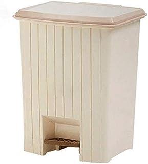 クリーンプラスチックトラッシュ缶に防止臭気の流出にビン装飾付きA・ペダル、簡単にゴミ箱