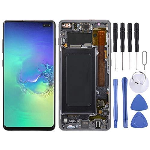 ZHUHAI vervangend LCD-scherm en Digitizer volledige montage met frame voor Galaxy S10+ (zwart) scherm vervangende kit + volledige reparatie gereedschap, Zwart