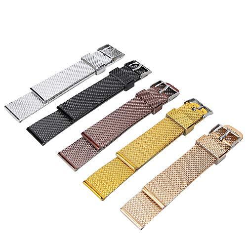 Correa de reloj de repuesto Correa de reloj unisex Cómoda 5 piezas Correa de reloj de repuesto para todos los relojes Uso doméstico Hombres Mujeres Relojero