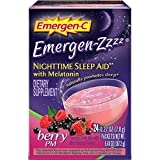 Emergen-C Emergen-Zzzz Nighttime Sleep Aid Dietary Supplement Berry PM - 24 Packets, Pack of 4