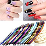 30 Couleurs Nail Art Décoration Stripes, Ongle Nail Art Striping Tape, Striping Tape Fil Bandes Autocollant Ongle Tips