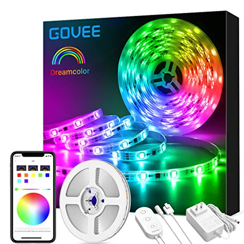 LED Strip Lights Dreamcolor, Govee APP Control Bluetooth 16.4ft Multicolor LED Light Strip,...