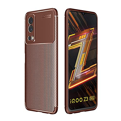 CoverEx Rugged Carbon Fibre Armor Back Cover Case for iQOO Z3 5G