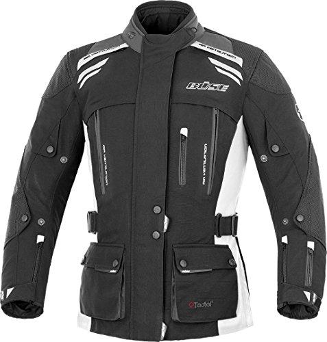 Büse Highland Damen Motorrad Textiljacke 58 Schwarz/Hellgrau