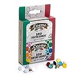 100 Puntine bianche + 100 Puntine colorate Leone Dell'Era - Blister di cartone da 2 scatole