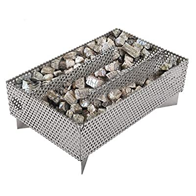 """Finderomend Smoker Tray 12 Hours Pellet Maze Smoker Tray, Perfect for Hot and Cold Smoking Meat, Fish, Cheese Pork Smoking with Wood Pellets - Works in Any Type of Grill or Smoker, 5"""" x 8"""""""