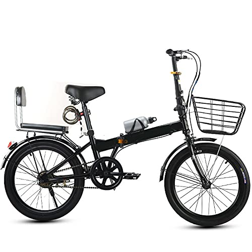 ROYWY Bicicleta Plegable para Adultos, 20 Pulgadas, Bicicleta de montaña prémium para niños, niñas, Hombres y Mujeres, Bicicleta de montaña portátil Ultraligera -B/Black / 20inch