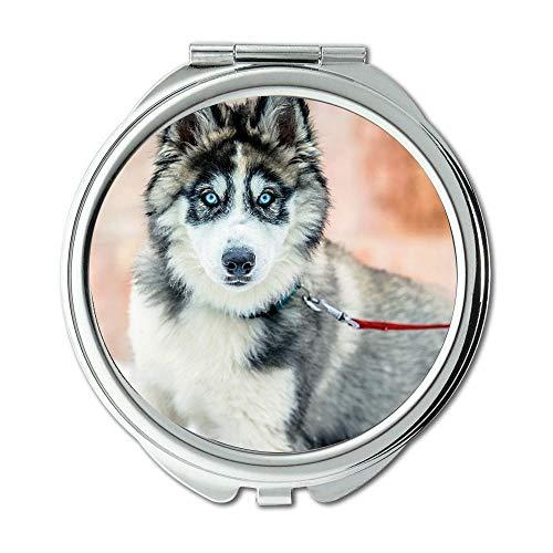 Yanteng Spiegel, Taschenspiegel, Hündchen, Taschenspiegel, 1 X 2X Lupe