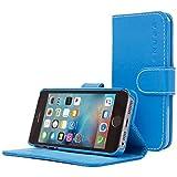 Snugg Schutzhülle für iPhone 5/5S, blaues Leder,