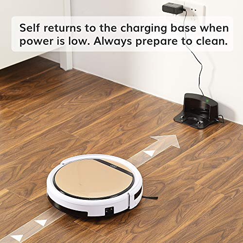 ILIFE V5s Pro, 2-in-1 Robotic Vacuum Cleaner and Mopping, Slim, Automatic Self-Charging, Daily Schedule, Ideal for Pet Hair, Hard Floor and Low Pile Carpet.