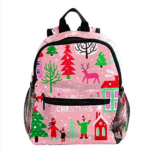 RuppertTextile Zaino per ragazze e ragazzi Bookbag Multiuso Daypack Borsa da viaggio all'aperto Buon Natale enorme con tasca taglia Size