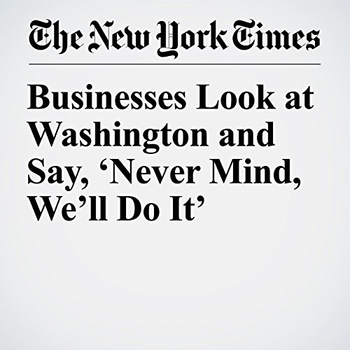 Businesses Look at Washington and Say, 'Never Mind, We'll Do It' copertina