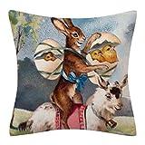 Ostern Kissenbezüge Rabbit Kaninchen drucken Kissenbezug Kissenbezug Zierkissenbezüge Throw Pillow...