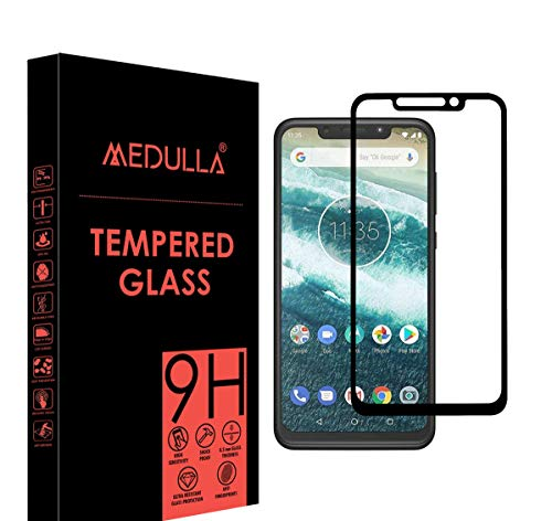 Medulla Edge to Edge (Black) 11D Tempered Glass Screen Protector for MOTO ONE POWER (Pack of 2)